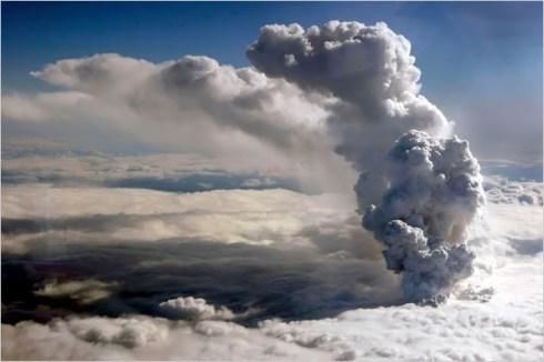 Eyjafjallajokull erupting